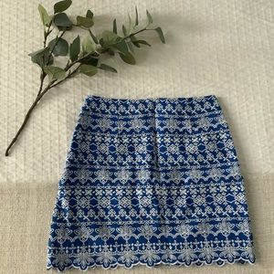 LOFT Skirts - LOFT embroidered mini skirt, size 0